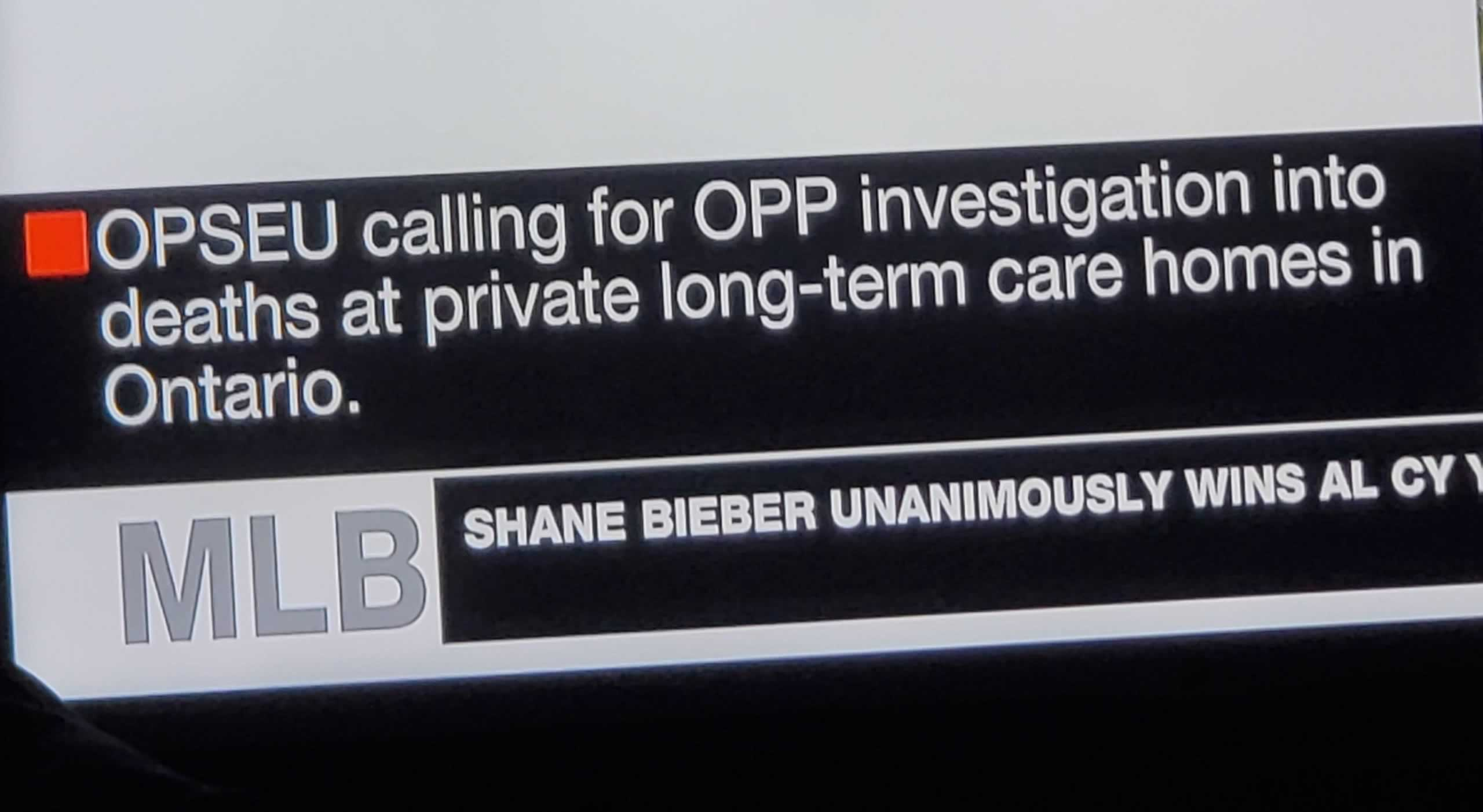 CP24 headline: OPSEU calling for OPP investigation