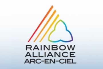 Rainbow Alliance/Arc-En-Ciel Bilingual Logo