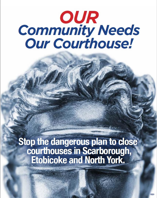 Our Community Needs Our Courthouse! Stop the dangerous plan to close courthouses