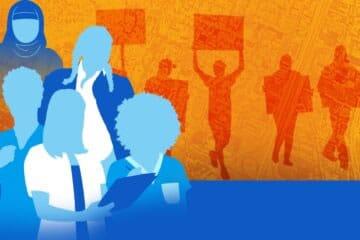 Workers on strike illustration