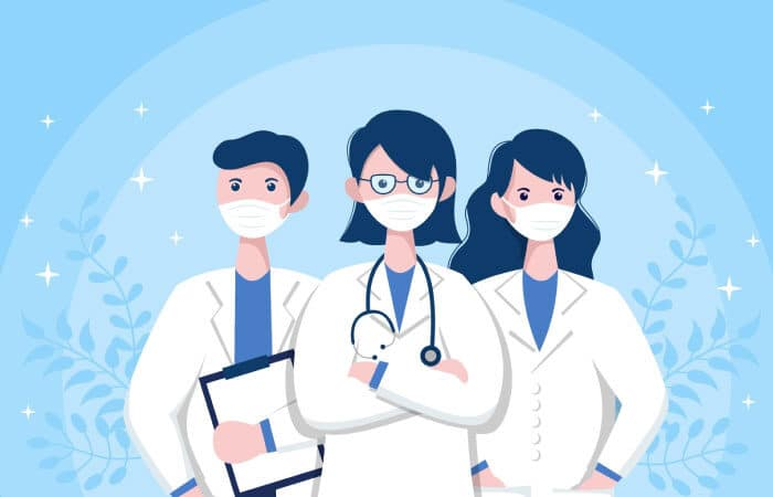 Health care workers illustration